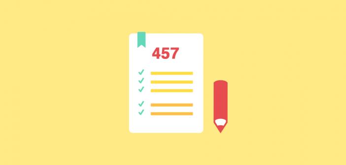 Checkliste fuer 457 Visumsbeantragung
