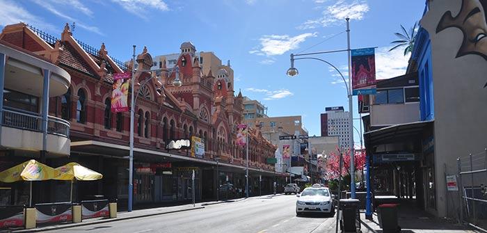 Innenstadt von Adelaide in Australien