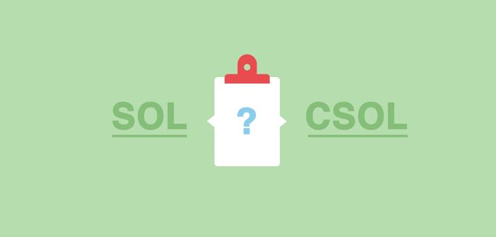 Was ist der Unterschied zwischen der SOL- und CSOL-Liste?